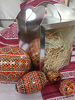 Коробка для кулича, пряничных домов, подарков 16х16х19 серебрянная