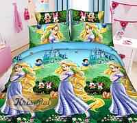 Детский комплект постельного белья полуторный Принцессы, ранфорс 100% хлопок. (арт.7096)