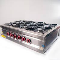 Плита 6-ти конфорочная настольная М015-6N с газовым контроллером Pimak (Турция)