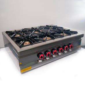 Плита 6-ти конфорочная настольная М015-6N с газовым контроллером Pimak (Турция), фото 2