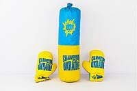 Боксерский набор средний УКРАИНА  Боксерская груша + перчатки (шт.)