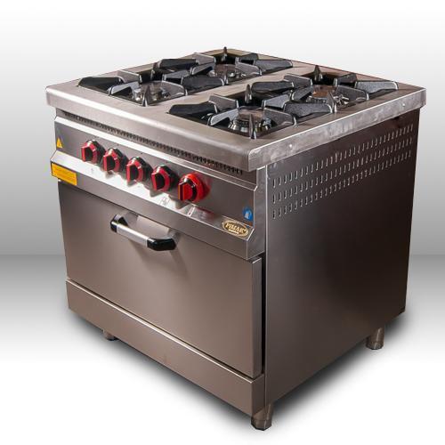 Плита 4-х конфорочная с духовым шкафом и газовым контролером М015-4 Pimak (Турция)