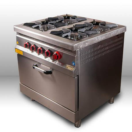 Плита 4-х конфорочная с духовым шкафом и газовым контролером М015-4 Pimak (Турция), фото 2