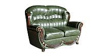 """Кожаный мягкий диван """"Jove"""" (Джове) Двухместный (150 см), Не раскладной, натуральная кожа"""