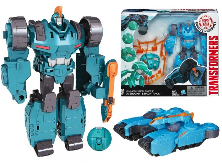 Transformers - Трансформер (Роботы под прикрытием: Миникон ДеплойерсMini-Con Deployers Overload & BackTrack)