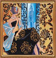 """Набор для вышивки бисером на натуральном художественном холсте """"Окно в Нью-Йорк"""""""