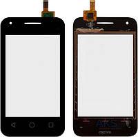 Тачскрин (сенсор) для Alcatel 4009D One Touch Dual Sim (black) Original
