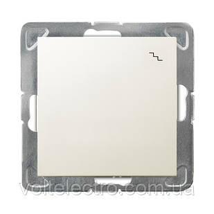 Вимикач одноклавішний прохідний 250V/16A OSPEL IMPRESJA ŁP-3Y/m/27 беж.