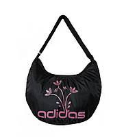 Спортивная женская сумка маленькая черно-розовая, фото 1