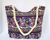 Пляжная текстильная летняя сумка Яркий орнамент