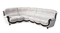 Угловой кожаный диван Джове  Ифагрид, натуральная кожа, 240-240, Классический