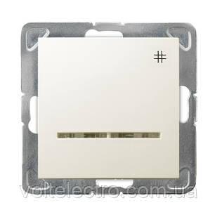 Перехресний вимикач з підсвічуванням OSPEL IMPRESJA ŁP-4YS/m/27 беж.