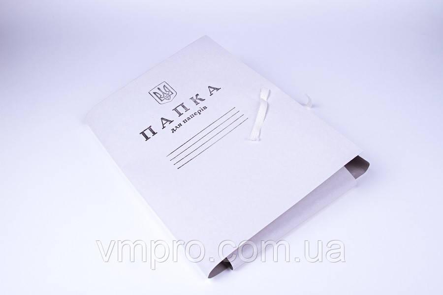 Папка для паперів на зав'язках(картон), папки A4
