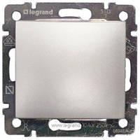 Выключатель одноклавишный проходной Legrand Valena 770106 алюминий