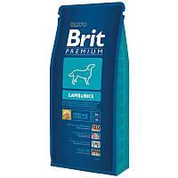 Brit Premium Lamb & Rice 15 кг Сухой корм с ягненком и рисом для взрослых собак склонных к аллергии