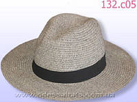 Шляпа летняя мужская цвет серый