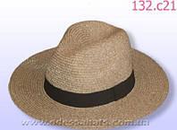 Шляпа летняя мужская цвет светло коричневый