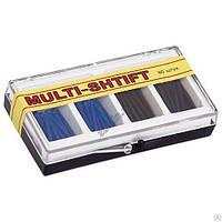 Штифты беззольные Multi-Shtift синие, черные 80 шт.