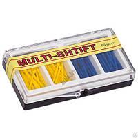 Штифты беззольные Multi-Shtift желтые, синие 80 шт. + 2 развертки