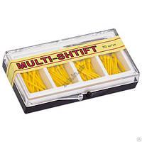 Штифты беззольные Multi-Shtift желтые 1,2 мм. 80 шт. + 1 развертка