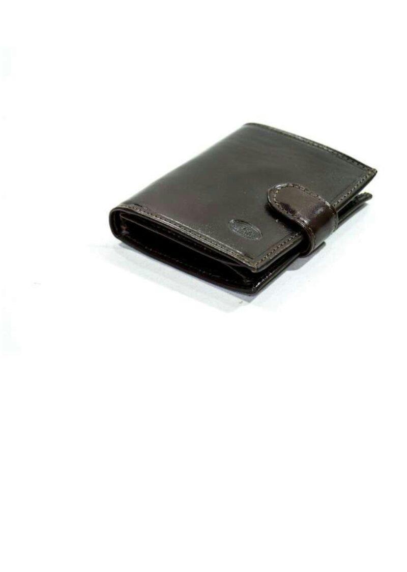 Кошелек катана мужской кожаный коричневый 353035.