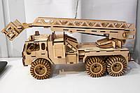Деревянный конструктор Пожарная машина 172 детали, фото 1
