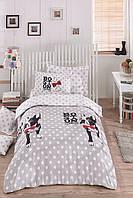 Комплект постельного белья для подростков Eponj Home BOSTON GRI SV22