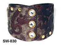 Браслет из натуральной кожи с элементами Swarovski SW830