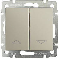 Выключатель для жалюзи с мех. блок. Legrand Valena 770104 алюминий