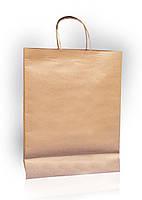 Пакет из бурого крафт-картона 350х450х120