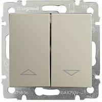 Выключатель для жалюзи с эл. блок. Legrand Valena 770114 алюминий