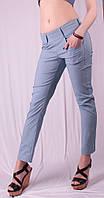 Капри женские с карманами под пояс, джинс