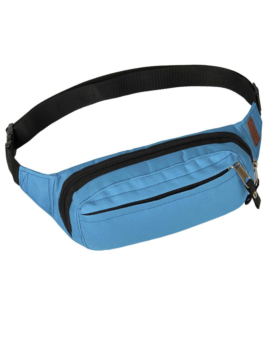 946082832ab0 Поясная сумка голубая Primo Surikat (бананка, сумка на пояс) - Інтернет  магазин BANZAK