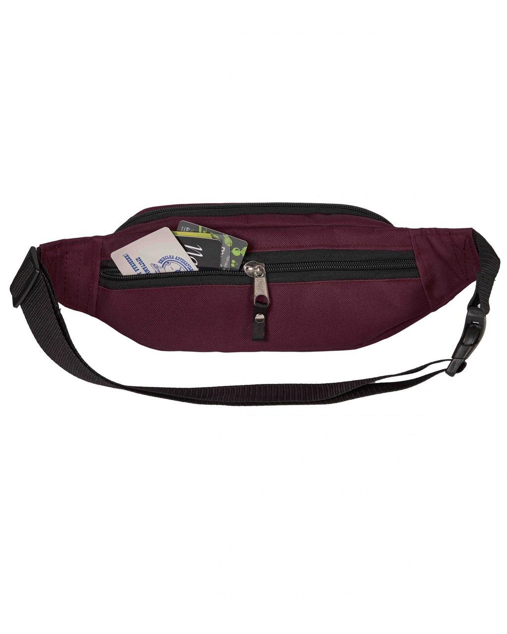289265bc9b4d Поясная сумка бордовая Primo Surikat (бананка, сумка на пояс): 225 ...