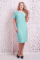 Летнее бирюзовое платье Верди ТМ Таtiana 54-60 размеры
