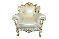 """Кожаный диван резной """"Izabella"""" (Изабелла) Кресло (90 см), Не раскладной, натуральная кожа"""