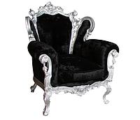 """Кожаный диван резной """"Izabella"""" (Изабелла) Кресло (90 см), Не раскладной, ткань"""