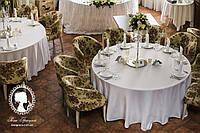 Аренда стол круглый со скатертью