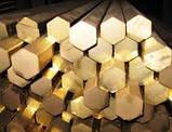 Латунный шестигранник Л63 ф22 х 2500 п/т ЛС59 ГОСТ цена купить с доставкой по Украине. , фото 2