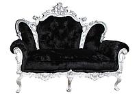 """Кожаный диван резной """"Izabella"""" (Изабелла) Двухместный (170 см), Не раскладной, ткань"""