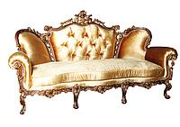 """Кожаный диван резной """"Izabella"""" (Изабелла) Трехместный (220 см), Не раскладной, ткань"""