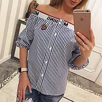 Блуза женская Москино - синяя - М-01335