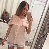 Летняя блузка с рюшей