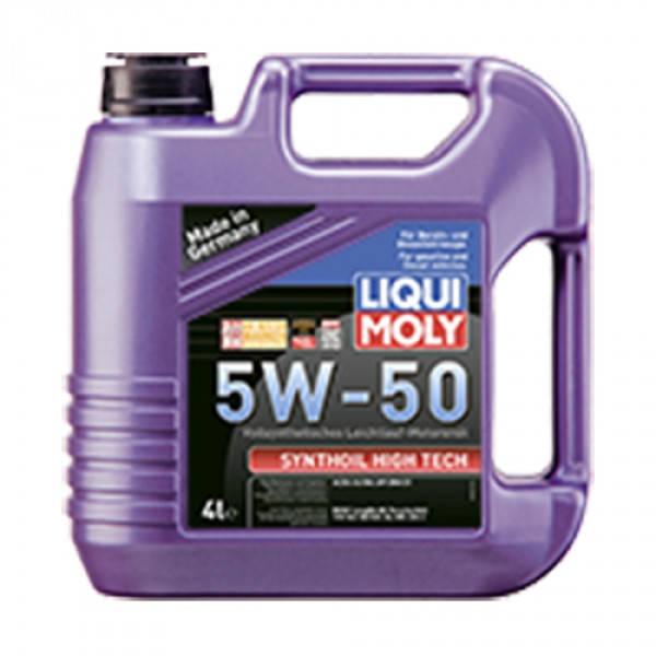 Синтетическое моторное масло - Liqui Moly Synthoil High Tech SAE 5W-50 4 л., фото 2