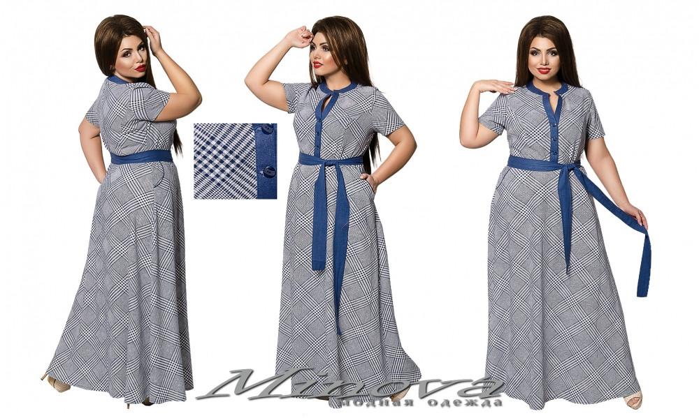 2a7719a9bf7d942 Летнее льняное платье Гэйла (размеры 52-58) - Интернет-магазин «ПЕРЕМЕНА