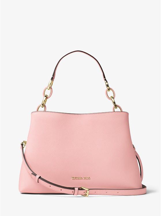 Сумка Michael Kors Portia Large Saffiano Leather Shoulder pink Bag 30T6GPAL3L