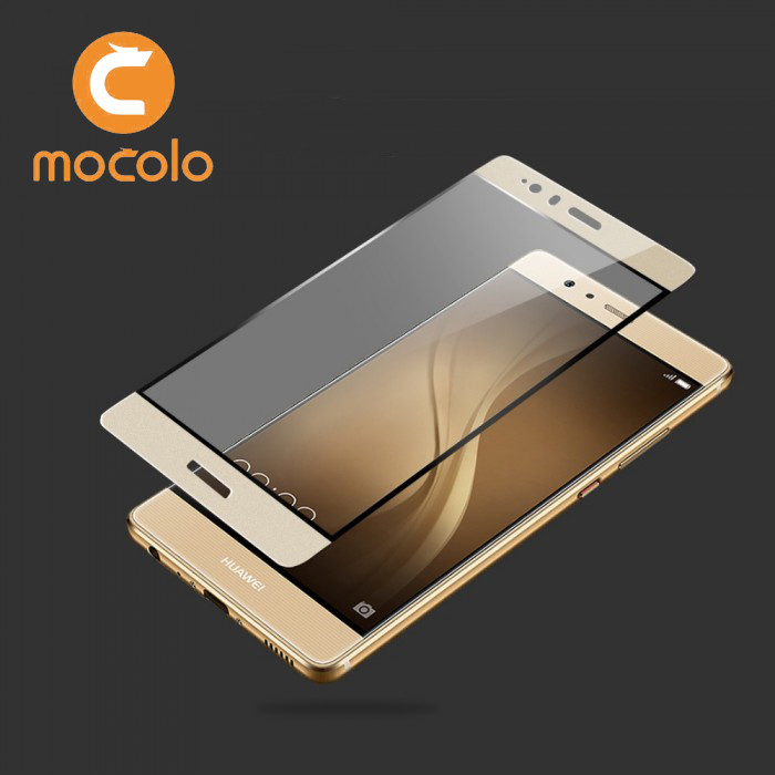 Защитное стекло Mocolo 3D 9H на весь экран для Huawei P9 золотистый