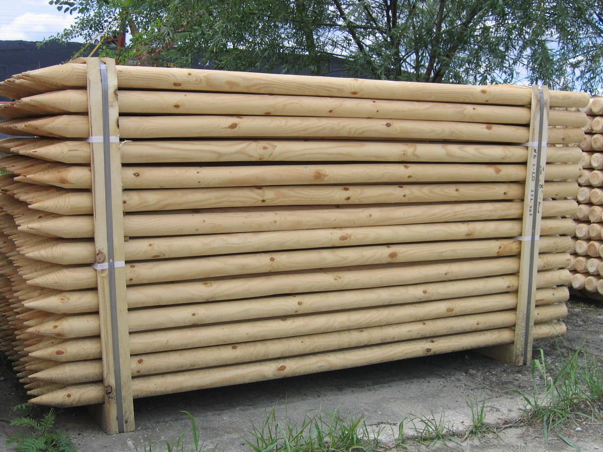 Колья садовые оцилиндрованные. Работаем по Украине и на экспорт. - EVIR в Киеве