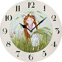 """Годинник настінний (330мм) """"Сонячне диво - Вікторія Проців"""" [МДФ, Открытые]"""