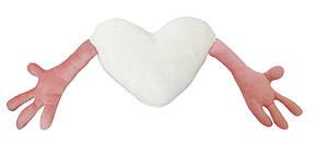"Подушка-обнимашка в форме ""Сердце"", розовая"